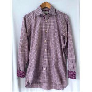 Ted Baker Endurance Classic Fit Purple Plaid Shirt